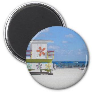Estación del salvavidas de Miami Beach Imán De Frigorifico