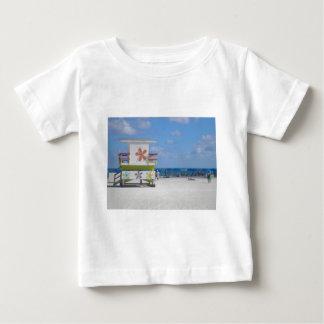 Estación del salvavidas de Miami Beach Playera Para Bebé
