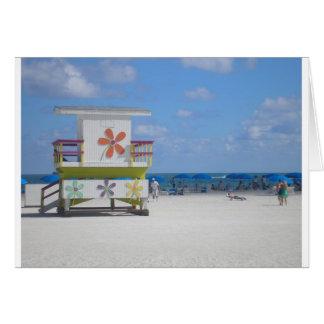 Estación del salvavidas de Miami Beach Tarjeta De Felicitación