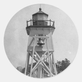 Estación del sur de la luz del embarcadero de pegatina redonda