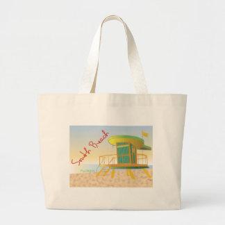 Estación del sur del salvavidas de la playa bolsa tela grande