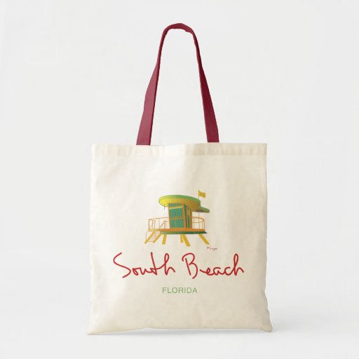 Estación del sur del salvavidas de la playa bolsa lienzo