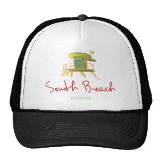 Estación del sur del salvavidas de la playa gorros bordados