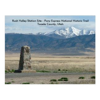 Estación del valle de la precipitación tarjetas postales