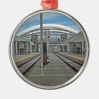 Estación Denver de la unión Adorno Navideño Redondo De Metal