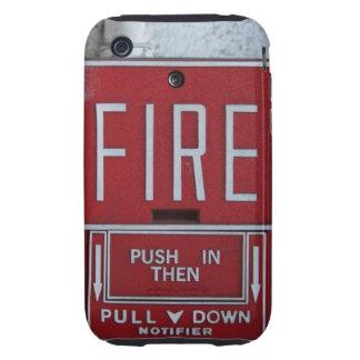 Estación divertida del tirón del fuego de la iPhone 3 tough funda