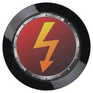Estación eléctrica roja de USB del símbolo de la