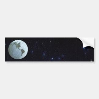 Estación espacial de la ciencia ficción del vintag etiqueta de parachoque