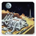Estación espacial de la ciencia ficción del vintag invitaciones personalizada