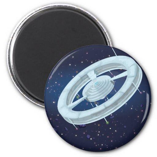 Estación espacial de la estación espacial imán redondo 5 cm