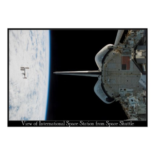 Estación espacial de la lanzadera posters
