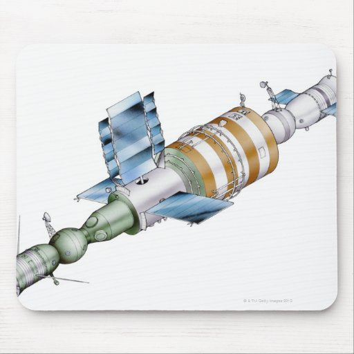 Estación espacial de la serie de Salyut del ruso Alfombrillas De Raton