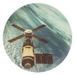 Estación espacial de Skylab en espacio Platos