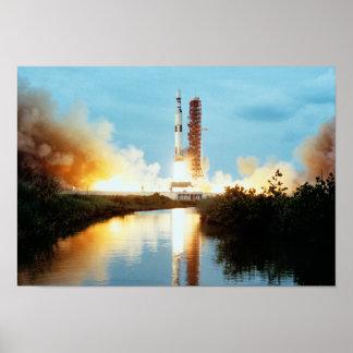 Estación espacial de Skylab - lanzamiento de Póster