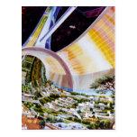 Estación espacial del anillo - hábitat futuro del  tarjeta postal