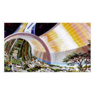 Estación espacial del anillo - hábitat futuro del  tarjetas de visita