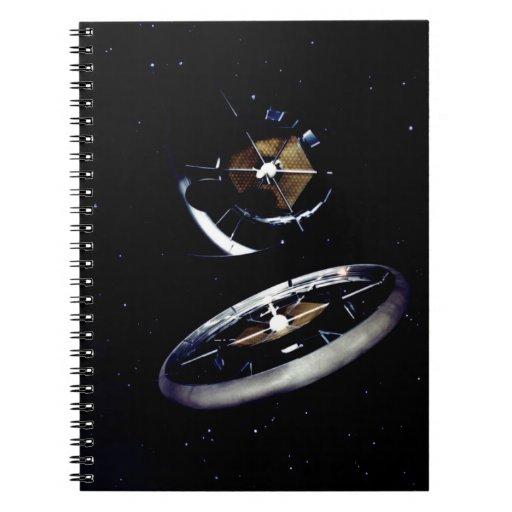Estación espacial del anillo libreta