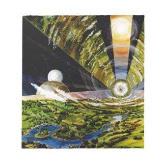 Estación espacial del futuro - visión interior blocs de papel