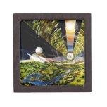 Estación espacial del futuro - visión interior caja de recuerdo de calidad