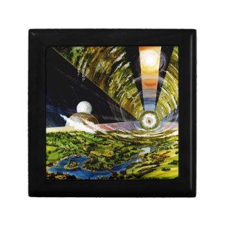 Estación espacial del futuro - visión interior cajas de recuerdo