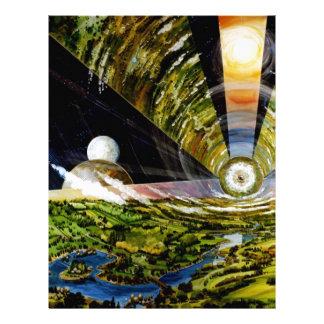 Estación espacial del futuro - visión interior membrete a diseño