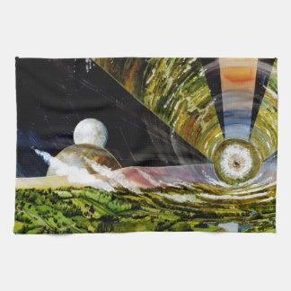 Estación espacial del futuro - visión interior toalla de mano