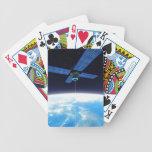 Estación espacial futurista baraja cartas de poker
