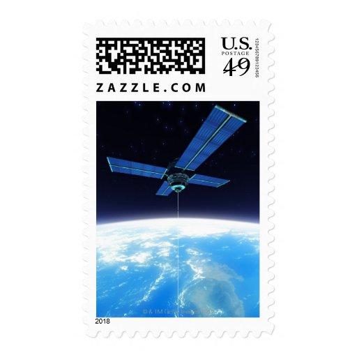 Estación espacial futurista sellos