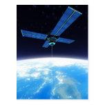 Estación espacial futurista tarjeta postal