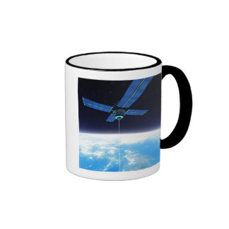 Estación espacial futurista taza