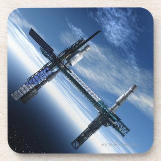 Estación espacial. Ilustraciones del ordenador de Posavasos De Bebida