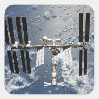 Estación espacial internacional 14 pegatina cuadrada