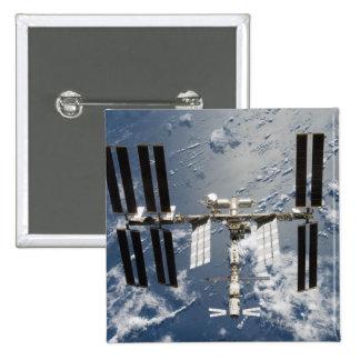 Estación espacial internacional 14 chapa cuadrada 5 cm