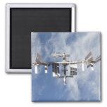 Estación espacial internacional 4 iman de frigorífico