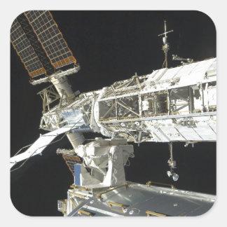 Estación espacial internacional 8 pegatina cuadrada