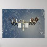Estación espacial internacional backdropped impresiones