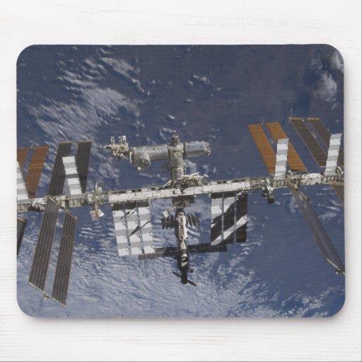 Estación espacial internacional en órbita tapete de ratón