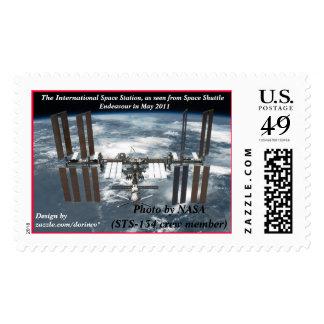 Estación espacial internacional ISS, esfuerzo 2011 Timbre Postal