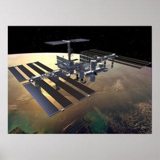 Estación espacial internacional póster