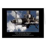 Estación espacial internacional según lo visto de  felicitaciones