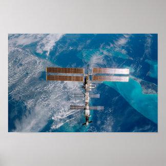 Estación espacial internacional sobre la Florida Impresiones