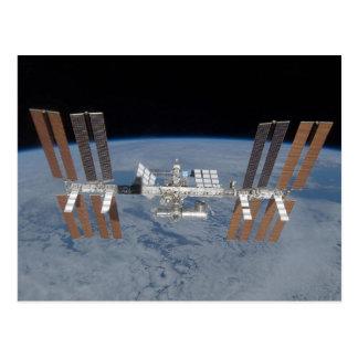 Estación espacial internacional tarjeta postal