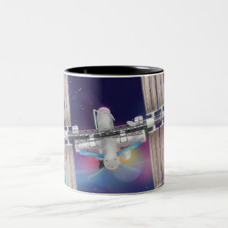 Estación espacial internacional taza de dos tonos