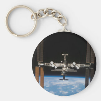 Estación espacial internacional -- Visto de la Atl Llavero Redondo Tipo Pin
