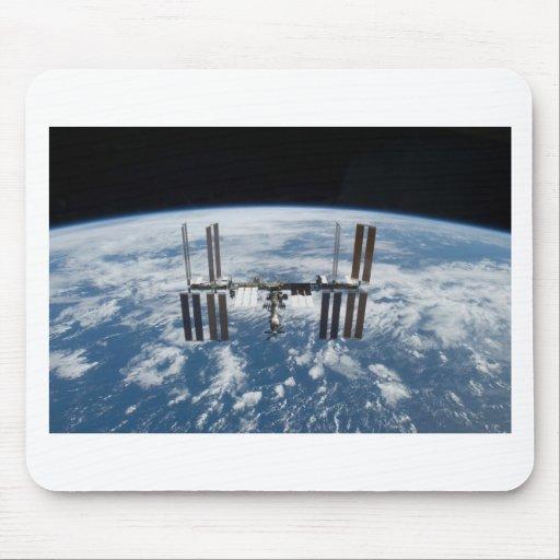Estación espacial internacional -- Visto de la Atl Tapete De Ratón