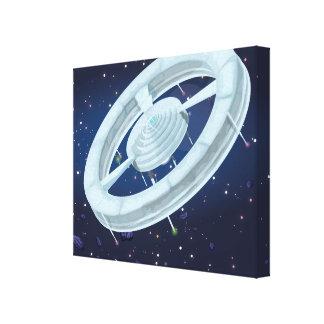 Estación espacial impresión en lona
