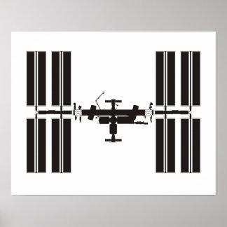 Estación espacial póster