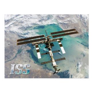 Estación espacial y tierra (ISS) internacional Tarjetas Postales