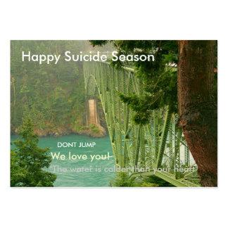 Estación feliz del suicidio tarjetas de visita grandes