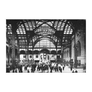 Estación New York City 1910 de Penn (blanco y negr Impresión En Lienzo